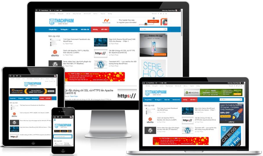 thiết kế website trên di động
