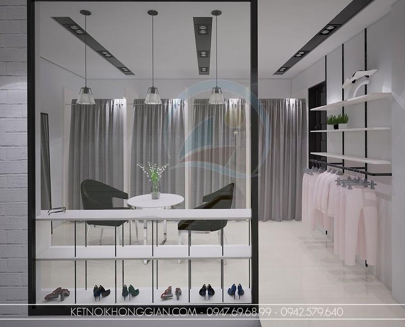 thiết kế shop thời trang tiện nghi