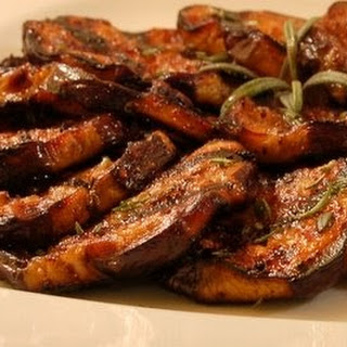 Honey Garlic Grilled Eggplant.