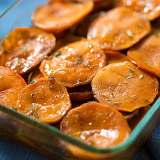 Maple and Tarragon Sweet Potatoes