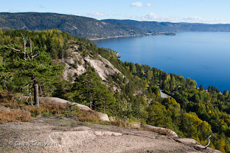 Photo: View over the Drammensfjord, from a mountain called Kaståsen