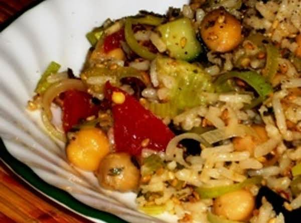 Chick Pea And Rice Salad