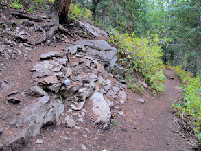 Photo: Rocky switchback