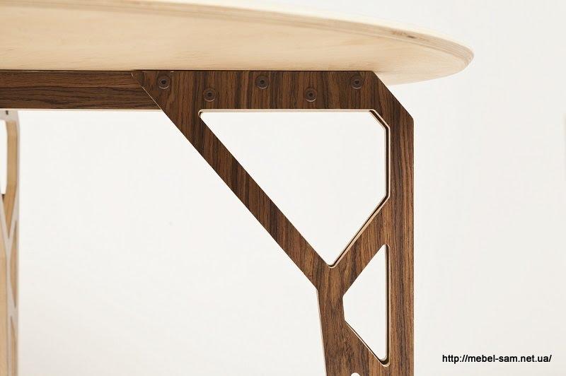 еще один вид - каркас стола фанера в два слоя с небольшим промежутком