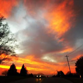 Sunday Drive  by Clark Crosser - Landscapes Sunsets & Sunrises