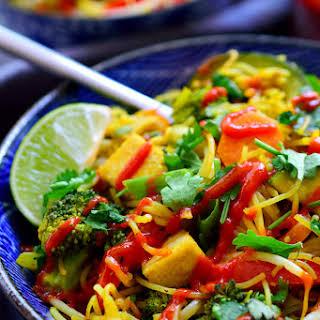 Vegetable Singapore Noodles.