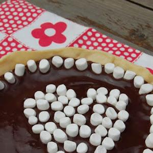 Chocolate Tart with Mini Marshmallows