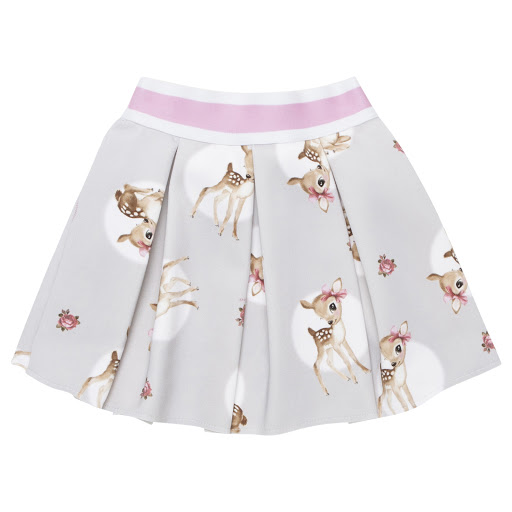 Thumbnail images of Monnalisa Pleated Deer Skirt