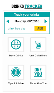 One You Drinks Tracker- screenshot thumbnail
