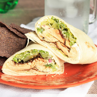 Shortcut Chicken Caesar Wraps.