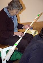 Photo: Mary making long things