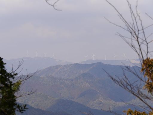 山頂からも朝見た風車