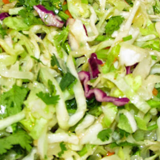 Honey Lime Slaw with Cilantro and Sriracha