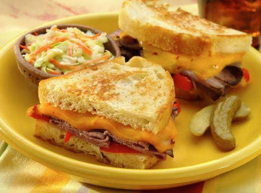 Roast Beef And Cheddar Panini Recipe