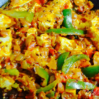 Kadhai Paneer Recipe, Delicious Wok Fried Cottage Cheese & Capsicum Masala