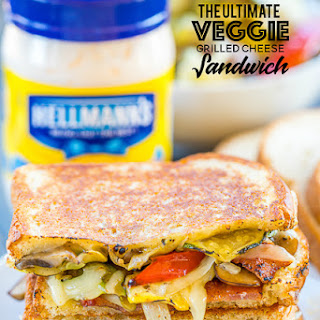 The Ultimate Veggie Grilled Cheese Sandwich.