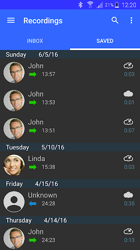 Automatic Call Recorder Pro app for Android screenshot