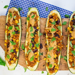 Mexican Stuffed Zucchini with Cashew Cheese