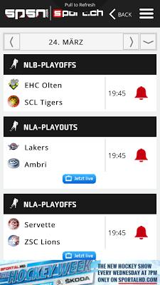 sport.ch SPSN - screenshot
