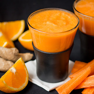 Orange Carrot and Ginger HOT smoothie – Week 4 of my Hot Smoothie Saturday series for October.