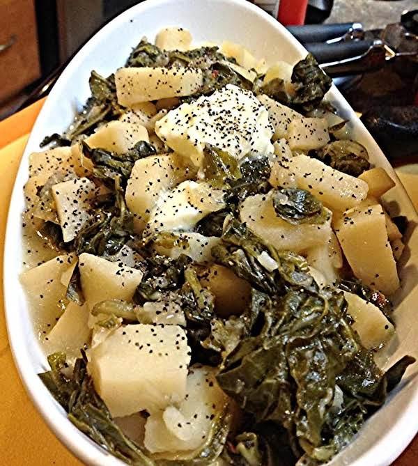 Collard Greens & Potatoes Recipe