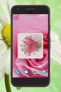Flowers Clock Live Wallpaper - náhled