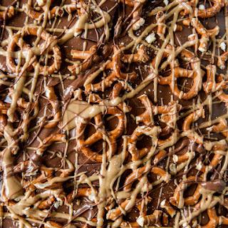 Pretzel Peanut Butter Stuffed Chocolate Bark
