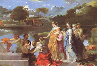 Photo: Sébastien Bourdon - Moïse sauvé des eaux 119.6x172.8 Washington - The National Gallery
