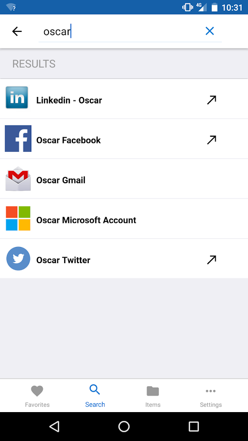 oneSafe | password manager- screenshot