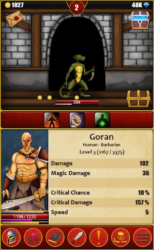 Infinite Dungeons( Clicker / Idle  RPG )  captures d'écran 1
