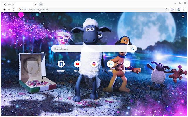Shaun the Sheep Wallpapers New Tab