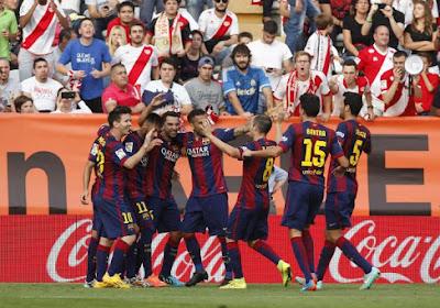 A Barcelone, on ne pense pas qu'au foot. Il y a Noël aussi...
