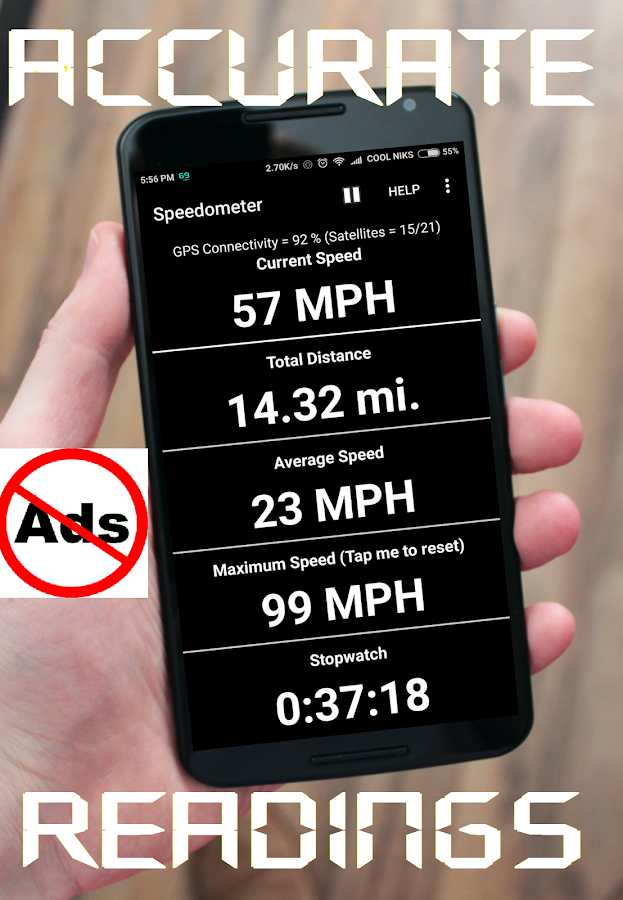 GPS Speedometer (Pro)- screenshot