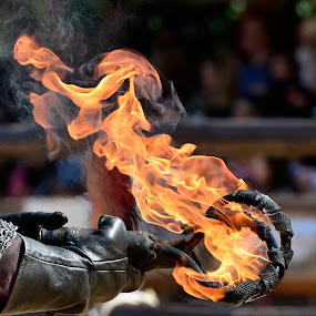 Getting Ready for a Jousting Contest by Victoria Eversole - Abstract Fire & Fireworks ( jousting, tudor history, warwick castle )