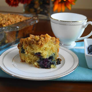 Blueberry Mascarpone Crumb Cake.