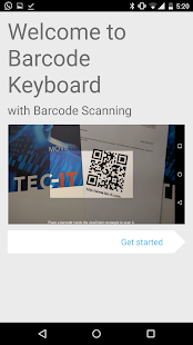 Barcodescanner Keyboard, Demo- screenshot thumbnail