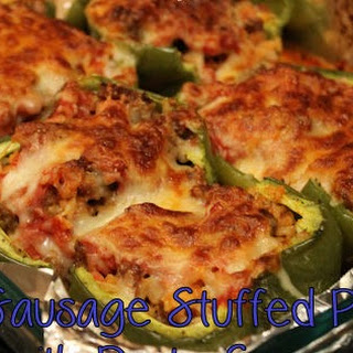 Italian Sausage Stuffed Peppers with Pasta Sauce