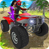 Quad Bike as Taxi Driving: Moto GP Driving 3D