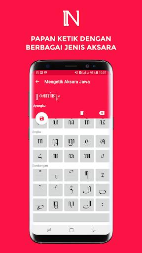 Nulis Aksara Jawa - Konversi dan Ketik Aksara Jawa 3.2 screenshots 5