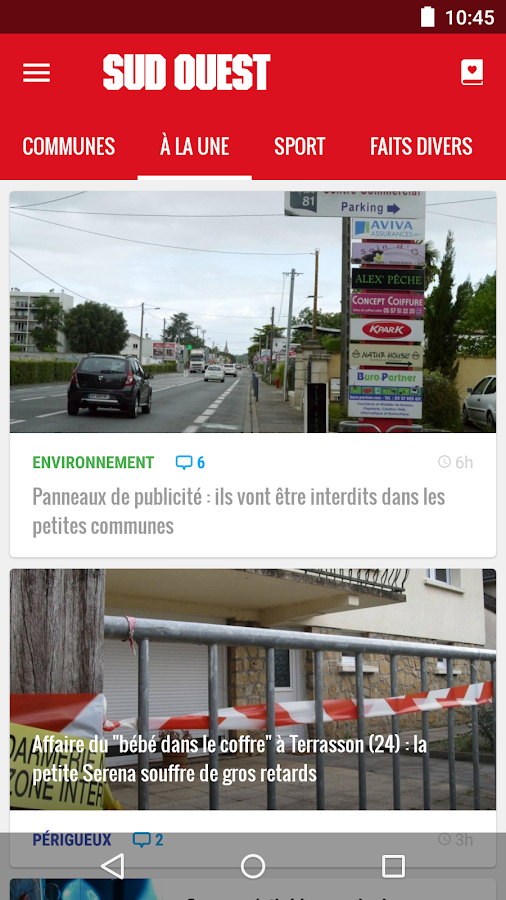 Sud Ouest- screenshot