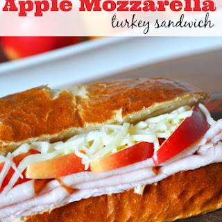 Apple Mozzarella Turkey Sandwich