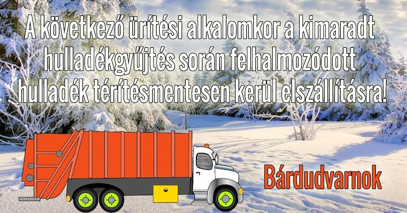 Tájékoztatás hulladékszállításról - 2018 tél