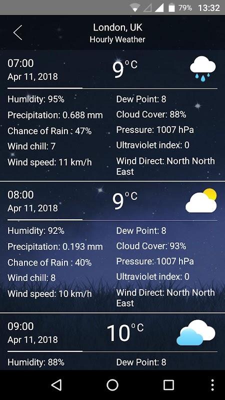weather screenshots