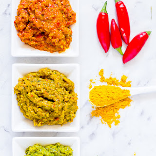 Easy, Thai-Style Red, Yellow and Green Curry Pastes.