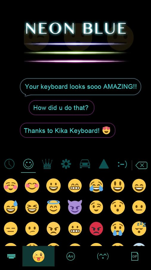 Neon-Blue-Kika-Keyboard-Theme 7