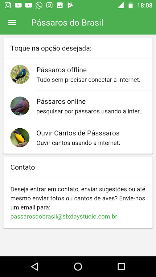 Pássaros Do Brasil- screenshot