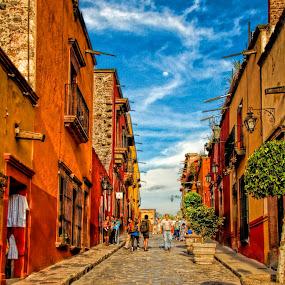 golden hour, san miguel de allende, mexico by Jim Knoch - City,  Street & Park  Street Scenes