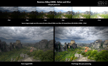 Photo: HDR Before-and-After: Rosánou Abbey – Metéora (HDR) ( details: bit.ly/bna-rosa )  Here is the before-and-after comparison of the HDR image I posted yesterday. It is a 6-exposure HDR image of Metéora, a UNESCO World Heritage site in Greece.  For more information... ...visit the before-and-after page at [ bit.ly/bna-rosa ]. Also check out the photo page at [ bit.ly/fp-rosa ] for full information on the processing of this image.  To see all my before-and-after comparisons, go to [ bit.ly/fp-bna ].