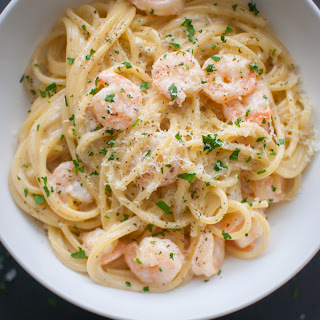 Creamy Lemon Shrimp Spaghetti