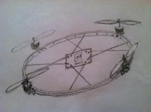 Photo: Wheel copter concept